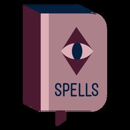 Magician spell book flat