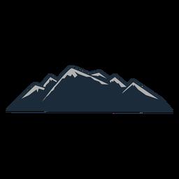 Neve de montanha folheada