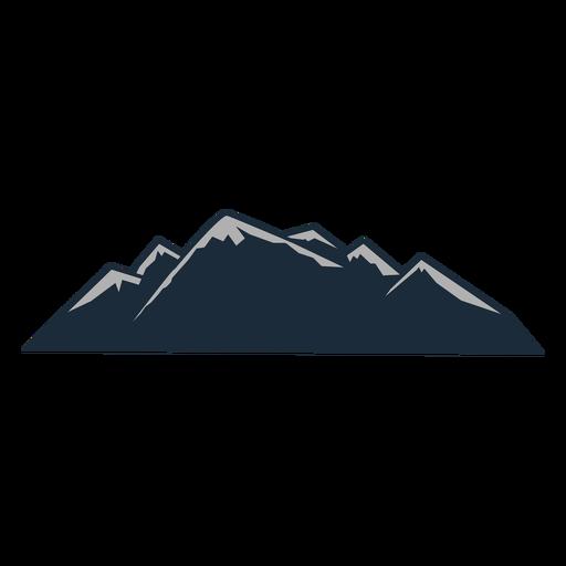 Cubierta de nieve de montaña