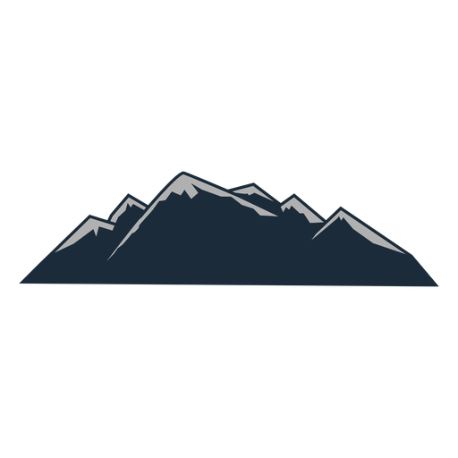 Mountain snow clad
