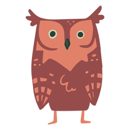 Owl brown staring flat