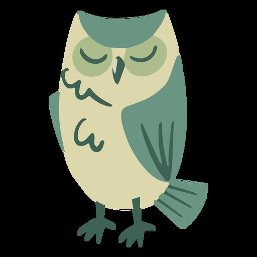 Owl green sleeping flat
