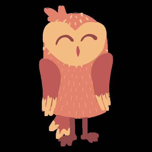 Owl light brown sleeping flat