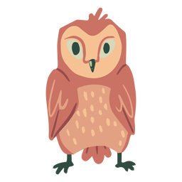 Owl light brown staring flat