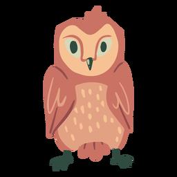 Owl light brown staring flat