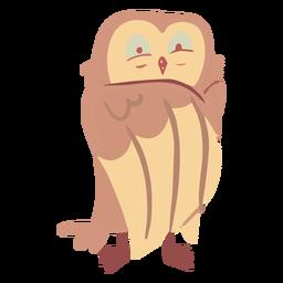 Owl yellow eyes half open flat