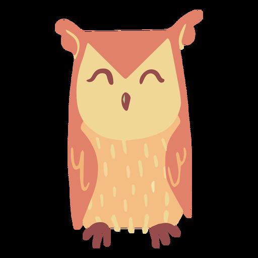 Owl yellow sleeping flat