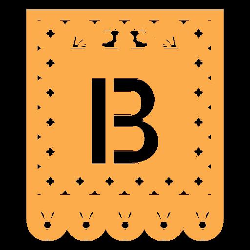 Papel picado b flat