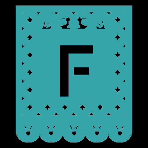 Papel picado f flat Transparent PNG