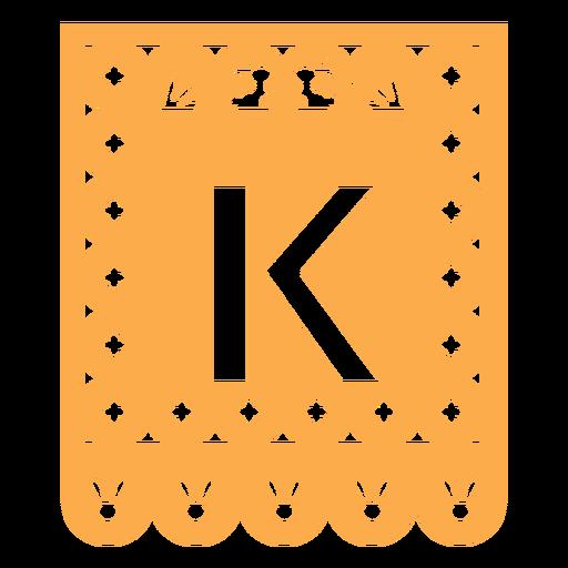 Papel picado k flat Transparent PNG