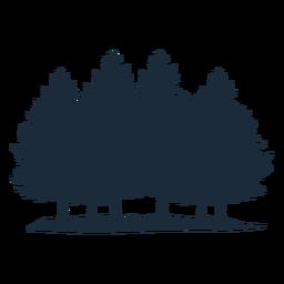 Pine tree bunch