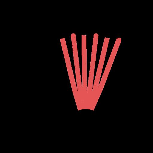 Polygonal accordion stroke Transparent PNG