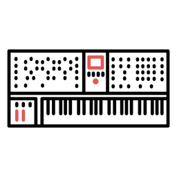 Trazo de teclado electrónico poligonal