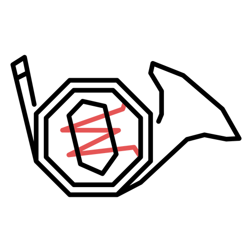 Polygonal french horn stroke