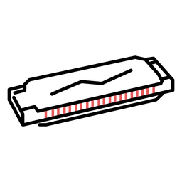 Traço de gaita poligonal