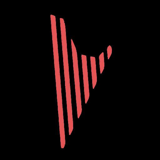 Polygonal harp stroke Transparent PNG