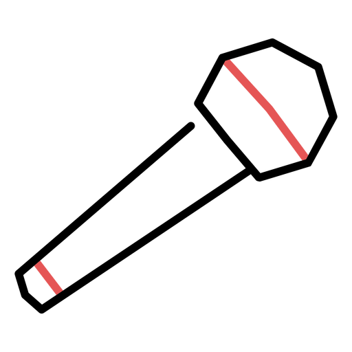 Polygonal microphone stroke