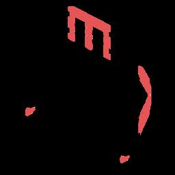 Polygonal piano stroke