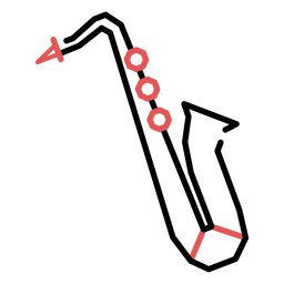 Polygonal saxophone stroke