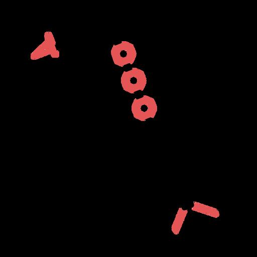 Polygonal saxophone stroke Transparent PNG