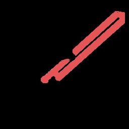 Traço de trombone poligonal