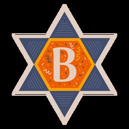 Bandeira da estrela de david b