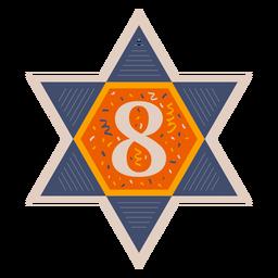 Estrella de david ocho banner