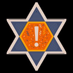 Bandera de signo de exclamación de estrella de david