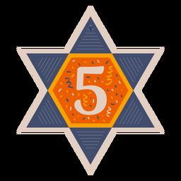 Bandera estrella de david cinco