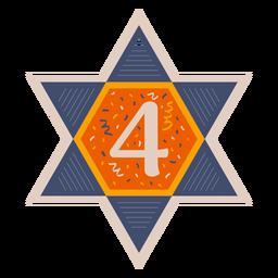 Estrella de david cuatro banner
