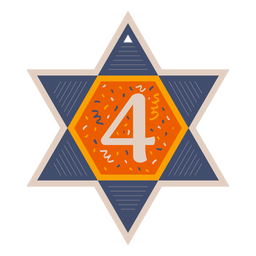 Star of david four banner