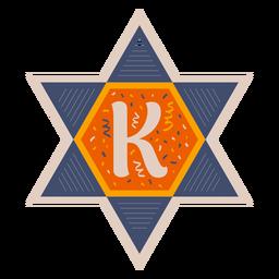 Bandeira da estrela de david k