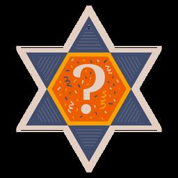 Banner de signo de interrogación de estrella de david