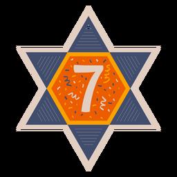 Estrella de david siete banner