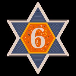 Estrella de david six banner