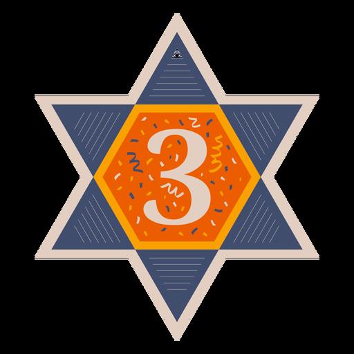Star of david three banner