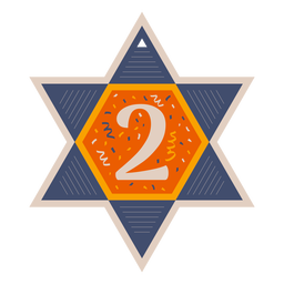 Star of david two banner
