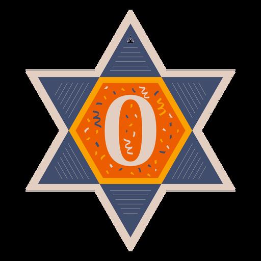 Banner estrella de david zero Transparent PNG