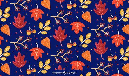diseño de patrón de hojas de otoño