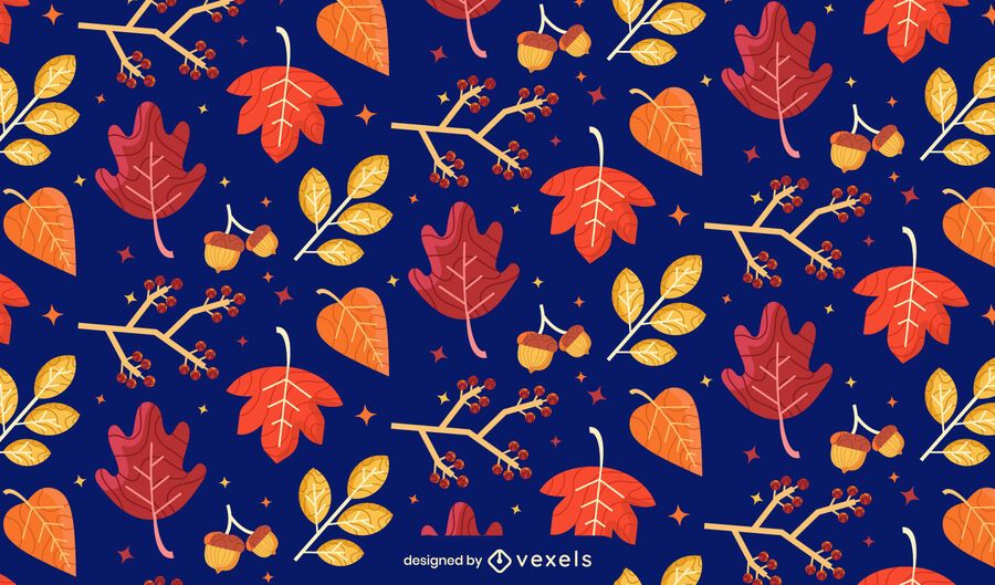 fall leaves pattern design