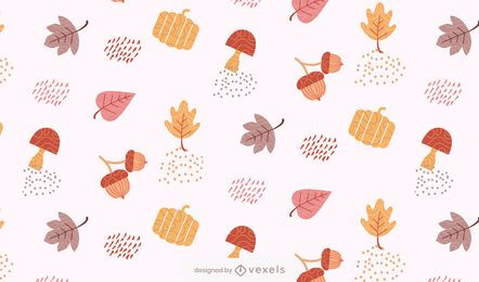 design de padrão de folhas de outono