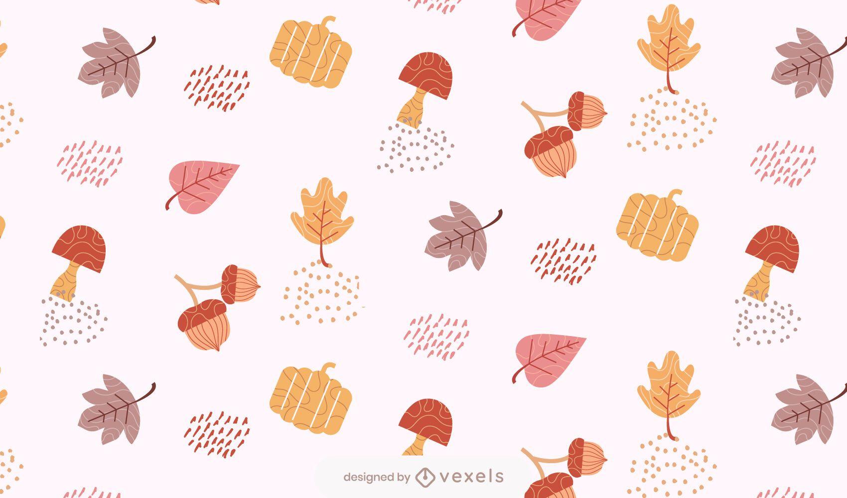 desenho de folhas de outono