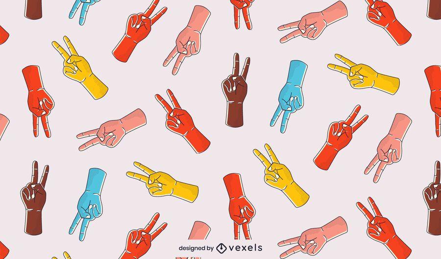 Diseño de patrón de signo de la paz