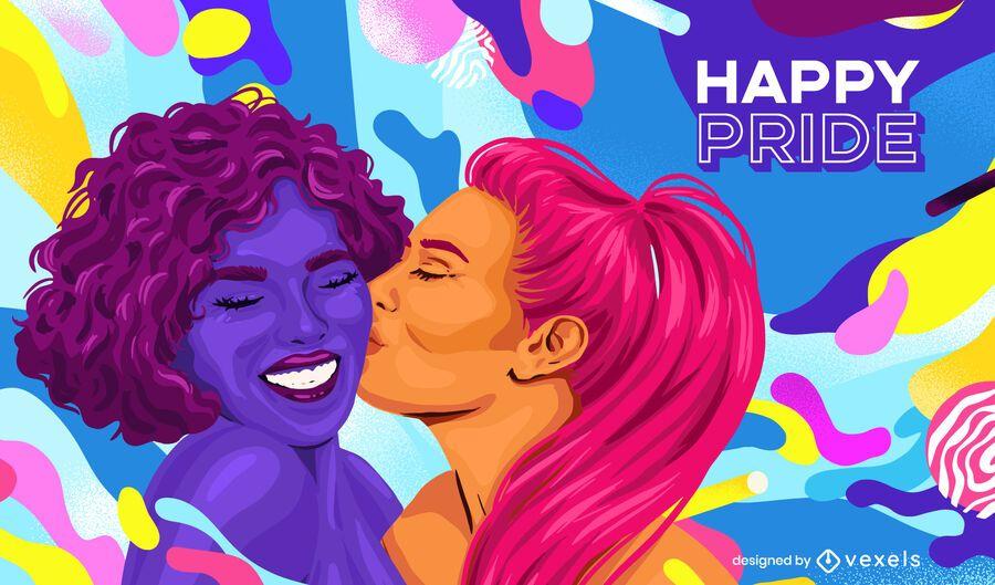 happy pride background design