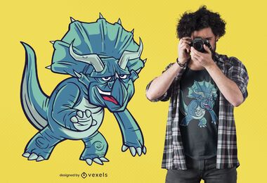 triceratops dinosaur t-shirt design