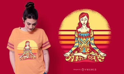 Diseño de camiseta Mandala Woman