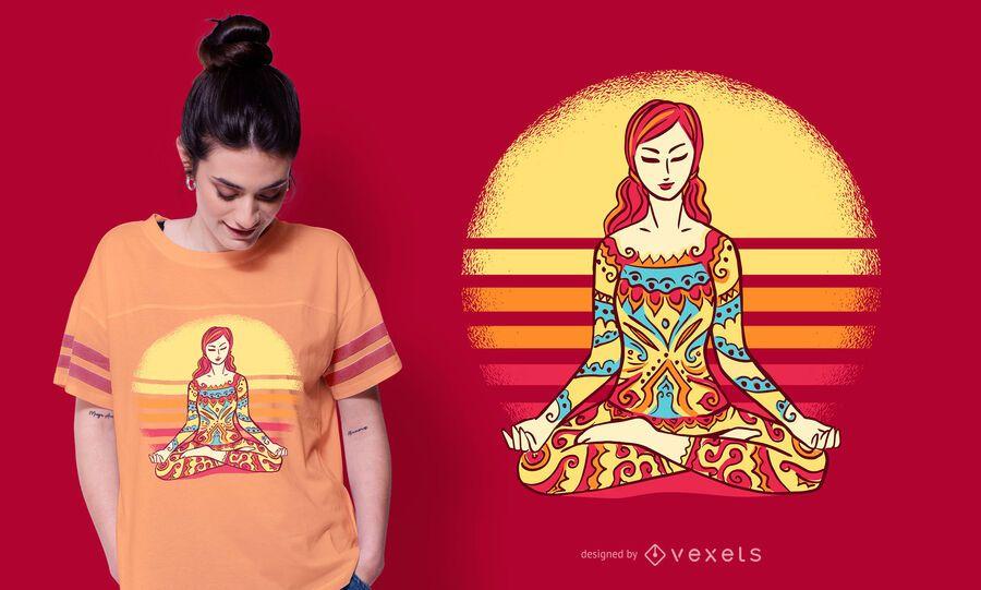 Mandala Woman T-shirt Design