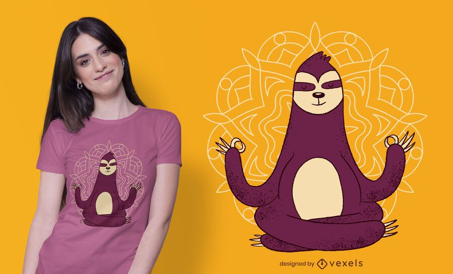 Meditation Sloth T-shirt Design