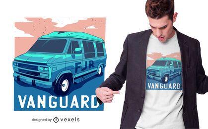 Design de camiseta esportiva Van Vanguard