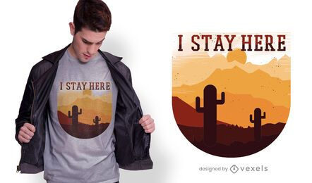 Desert Sunset Quote T-shirt Design